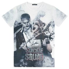 f9206bb3dfc5 Suicide Squad Harley Quinn and Joker size Cross Shoulder(cm) Chest  Width(cm) Body Length(cm) Sleeve Length(cm) M 42 100 67 18 L 44 104 69 19  XL 46 108 71 20 ...