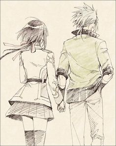 Kamigami no Asobi - Takeru and Yui   I'm not for this pairing, but I still like the picture.