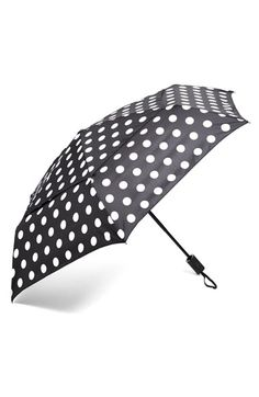 SHEDRAIN WindPro® Auto Open & Close Umbrella available at #Nordstrom... but not the polka-dot one, I like the stripped  one.
