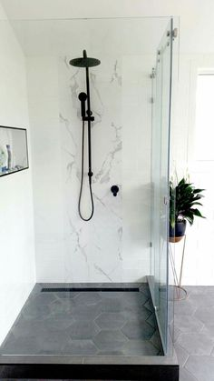 white marble subway tiles matte black (our renovations) - . - white marble subway tiles matte black (our renovations) – black - Marble Bathroom Floor, White Marble Bathrooms, Marble Subway Tiles, Bathroom Flooring, Bathroom Wall, Small Bathroom, Rental Bathroom, White Tiles, Paris Bathroom