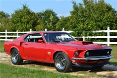 1969 Ford Mustang 429 Boss http://www.musclecardefinition.com/