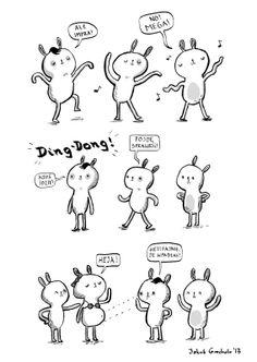 Bardzo nie zabawny dowcip rysunkowy jednego z redaktorów mydła Jakuba Grocholi  https://www.facebook.com/sounfunny?fref=ts  #suchemydło #mydło.zin #soap.zine #JakubGrochola #misie #suchary #badjoke