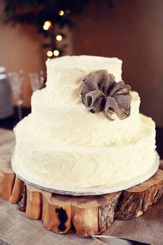 Rustic Wedding cake stand.
