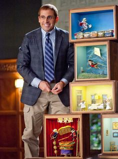 Dinner For Schmucks - movie where a guy takes deceased mice and recreates famous paintings or scenes (one article says that in real life that the mice are small sculptures, not actual mice)