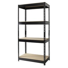 Iron Horse Riveted Steel 4-shelf Shelving Unit - Overstock™ Shopping - The Best Prices on Sorters & Shelves