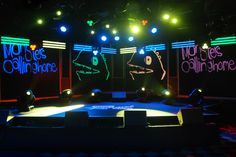 #MonstersCallingHome performed for #JimmyKimmelLive on this custom set. Alex's freehand sketches inspired the set's artwork design and the band's official logo.  #HondaLovesYouBack