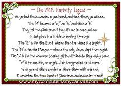 M&M Nativity Legend Printable with Peppermint Pretzel Melts recipe!