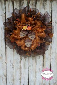 Large Fall acorn wreath
