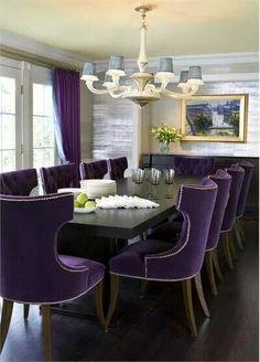 Purple & Black Living Room