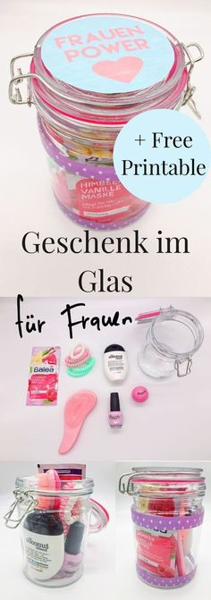 Beautiful DIY Gift Ideas for Women: Gifts in Glass! Nice idea for the ...  #beautiful #gifts #glass #ideas #WeihnachtsgeschenkefürFreund #women