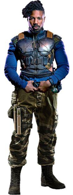 Erik Killmonger Black Panther Movie PNG by gasa979