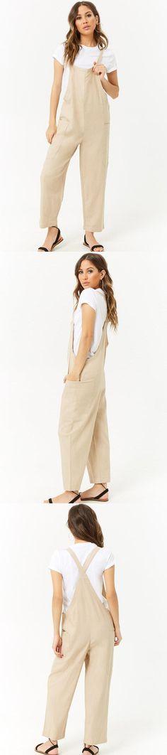 98e40b8452f Linen-Blend Wide-Leg Jumpsuit    27.90 USD    Forever 21 Forever
