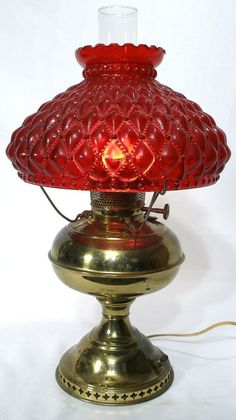 Antique unique bordeaux bronze porcelain table desk lamp w ruffle vintage victorian style gone w the wind style brass table lamp light red glass shade aloadofball Image collections