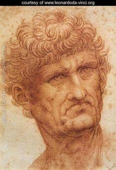 Head of a Man - Leonardo Da Vinci - www.leonardoda-vinci.org