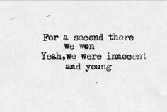 miss atomic bomb - the killers - Yeah, we were innocent and young.. <3