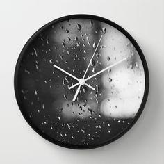 Rain, Rain, Don't Go Away Wall Clock by Dena Brender Photography - $30.00