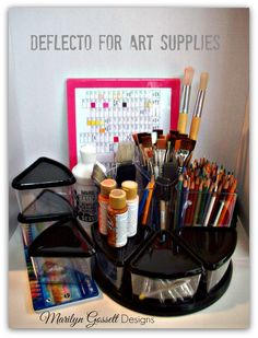 Deflecto Storage for Art Supplies Designer Marilyn Gossett