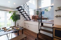 Lots of wonderful living ideas! Home Building Design, Home Room Design, Dream Home Design, Home Interior Design, Cafe Interior, Loft Apartment Decorating, Apartment Design, Loft House, Sims House