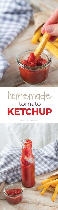 Homemade Tomato Ketchup. Quick and easy recipe using tomato puree and many spices. Sweetended with honey.