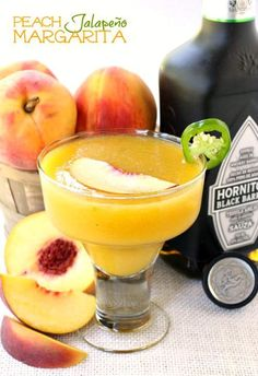 It's National Tequila Day and we're celebrating with this fresh Peach Jalapeño Margarita!