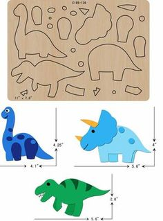 The thickness is and is compatible with most leading machines. Can& find what you need& Felt Animal Patterns, Stuffed Animal Patterns, Dinosaur Template, Flamingo Craft, Bow Template, Felt Templates, Felt Quiet Books, Baby Sewing Projects, Kids Wood