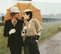 Walter Albini 1972 - Completo da uomo in vigogna e pantaloni scampanati - Tratto da Linea Italiana