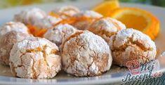 Kokosovo - pomerančové crinkles | NejRecept.cz Creative Cakes, Creative Food, Low Carb Brasil, Hungarian Recipes, Coconut Recipes, Christmas Baking, No Bake Desserts, Sweet Recipes, Cookie Recipes