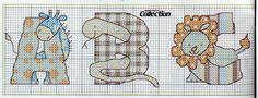 Animal Alphabet 1 Cross Stitch Alphabet Patterns, Disney Cross Stitch Patterns, Embroidery Alphabet, Cross Stitch Letters, Cross Stitch For Kids, Cross Stitch Baby, Cross Stitch Animals, Cross Stitch Designs, Cross Stitching