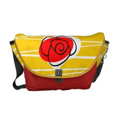 Spanish Souvenirs Rose messenger bag medium - red gifts color style cyo diy personalize unique