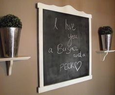 Love the idea of writing notes to each other on a blackboard in the hall or kitchen!
