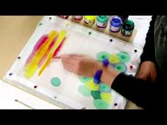 Silk Painting Abstract - YouTube