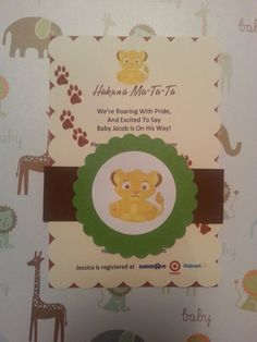 Hey, I found this really awesome Etsy listing at https://www.etsy.com/listing/192450807/lion-king-invitation