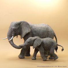 Dollhouse Miniature Dachshund sculpture by Pajutee on DeviantArt Elephant Sculpture, Bird Sculpture, Animal Sculptures, African Animals, African Elephant, African Art, Felt Animals, Cute Baby Animals, Miniture Animals