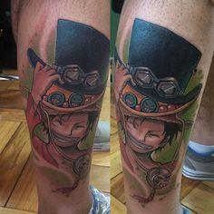 Luffy  realizado con @artdriver_tattoomachines y @paulo_angotti en @estudioelbosque para horas y consultas escribir a nimutattoo@gmail.com