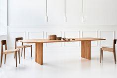 table-ten-christian-troels-jacob-plejdrup-dk3-maison-nordik.2 Danish Furniture, Dining Room Furniture, Dining Room Table, Furniture Design, Maison Nordik, Scandinavian Dining Table, Walnut Table Top, Plank Table, Meeting Table
