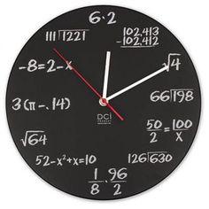 Reloj pizarra matemáticas - Tienda de regalos originales QueLoVendan.com
