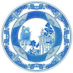 Cheeky Porcelain Plates Show Monsters Barging In On Tranquil Scenes - DesignTAXI.com