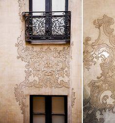 facade / balcony
