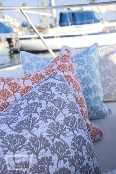By the Sea Collection-Michael Miller Fabrics.  Photo and styling by Trenna Travis Design  Studio