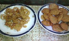 Onion pakora and Potato pakora