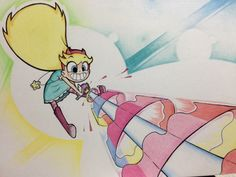 """hyrule-symbol: """" I drew this last year right after i finished watching 'Star vs the Forces of Evil' looks a little off now, but i still like the overly pink laser because it looks so silly in my sketchbook When i drew it, i didn't know @littledigits..."""