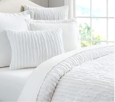 Pottery barn: Camille Duvet Cover and Sham in white