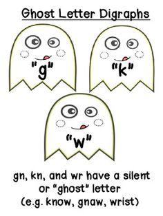 Ghost Letter Digraph Poster - Elizabeth Vineyard - TeachersPayTeachers.com