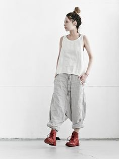 PAL OFFNER Linen Very low Trousers