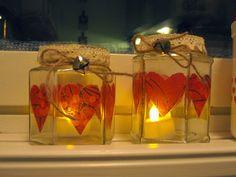Sokkiksen räpellykset: askartelu  Candle, glass jar, diy Glass Jars, Candle Jars, Candles, Diy, Glass Pitchers, Candle Mason Jars, Bricolage, Diys, Handyman Projects