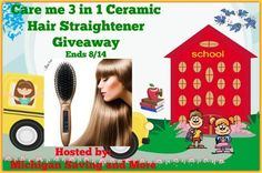 Care me 3 in 1 Ceramic Hair Straightener Giveaway (Ends 8/14) #caremeus