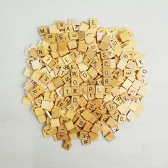 Vintage Bulk Scrabble Tiles 500 Wood Letter by WillowTreeAntiques, $45.00