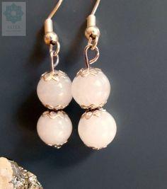 Rózsakvarc fülbevaló Pearl Earrings, Pearls, Jewelry, Pearl Studs, Jewlery, Jewerly, Beads, Schmuck, Jewels