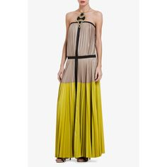 Lilyan Strapless Color-Blocked Dress by BCBG. bcbg's dresses are insane right now!