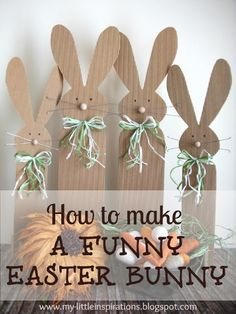 How to make a funny Easter Bunny - My Little Inspirations #thecreativefactory #handmadeeaster2016 #easter
